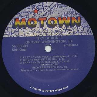 Grover Washington, Jr. / Skylarkin' label
