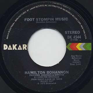 Hamilton Bohannon / Foot Stompin Music