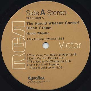 Harold Wheeler Consort / Black Cream label