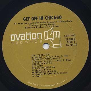 Harvey Mandel / Get Off In Chicago label