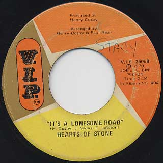 Hearts Of Stone / It's A Lonesome Road c/w Yesterday's Love Is Over