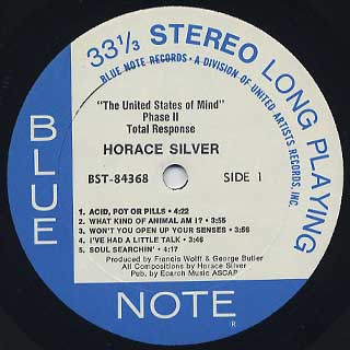 Horace Silver / Total Response label