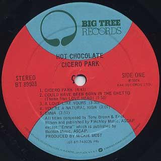 Hot Chocolate / Cicero Park label