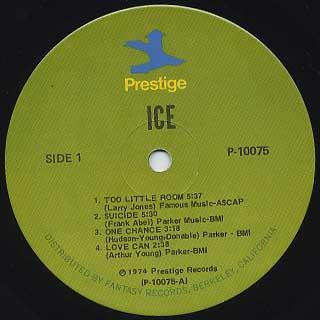 Ice / S.T. label