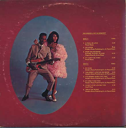 Ike & Tina Turner / Festival Of Live Performances back