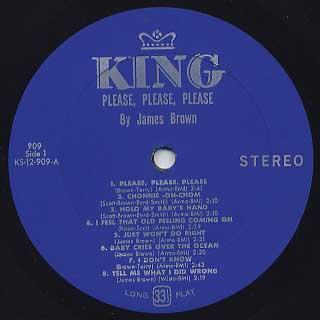 James Brown / Please, Please, Please label