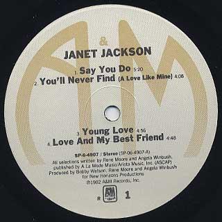 Janet Jackson / S.T. label