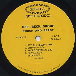 Jeff Beck Group / Rough And Ready label