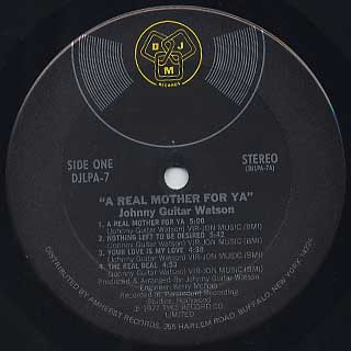 Johnny Guitar Watson / A Real Mother label