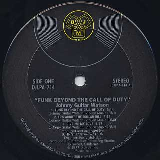 Johnny Guitar Watson / Funk Beyond The Call Of Duty label