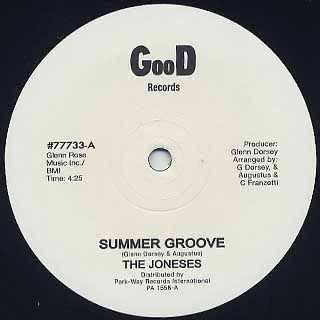 Joneses / Summer Groove