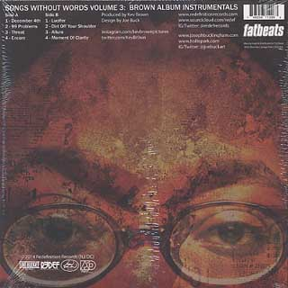 Kev Brown / Songs Without Words Volume 3: Brown Album Instrumentals back