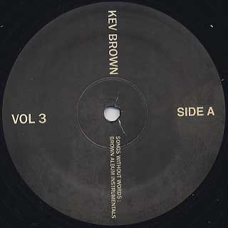 Kev Brown / Songs Without Words Volume 3: Brown Album Instrumentals label