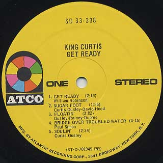 King Curtis / Get Ready label