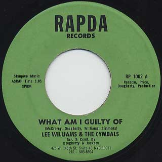 Lee Williams & The Cymbals / What Am I Guilty Of c/w L.C. Funk