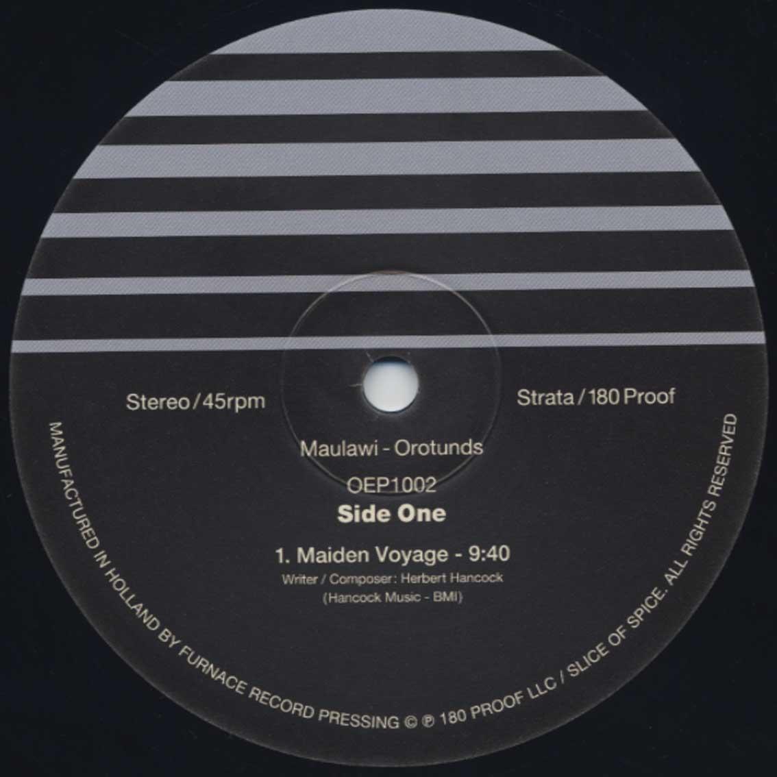 Maulawi / Orotunds (2LP) label