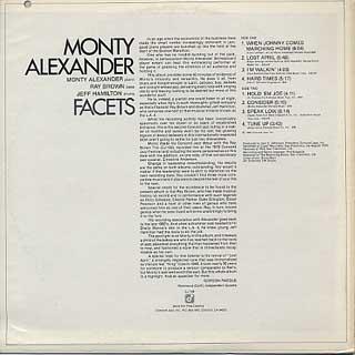 Monty Alexander / Facets back