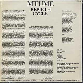 Mtume / Rebirth Cycle back