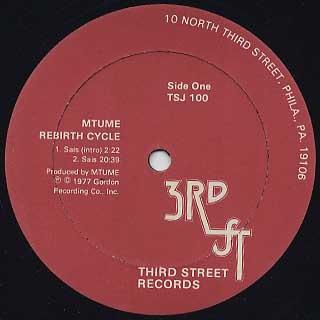 Mtume / Rebirth Cycle label