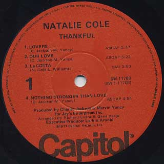 Natalie Cole / Thankful label