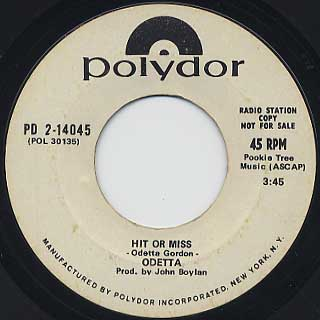 Odetta / Hit Or Miss(45) front