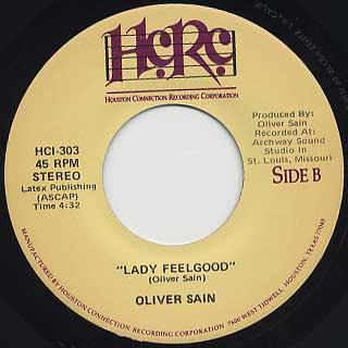 Oliver Sain / Lady Feelgood back