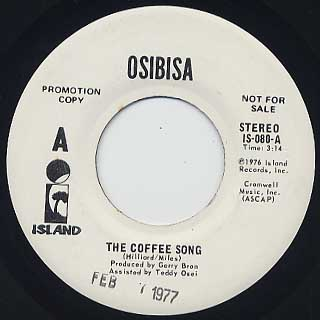 Osibisa / The Coffee Song(45) back