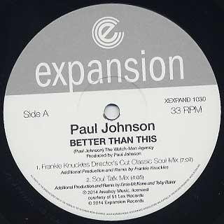 Paul Johnson / Better Than This Remixes