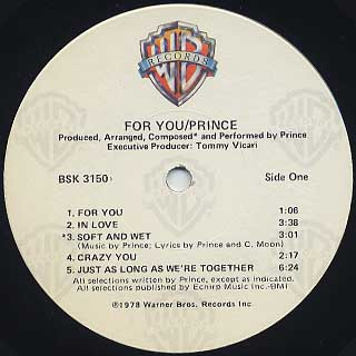 Prince / For You label