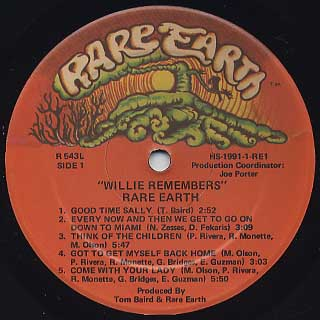 Rare Earth / Willie Remembers.. label