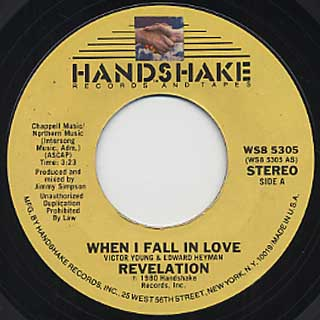 Revelation / When I Fall In Love c/w Feel It back