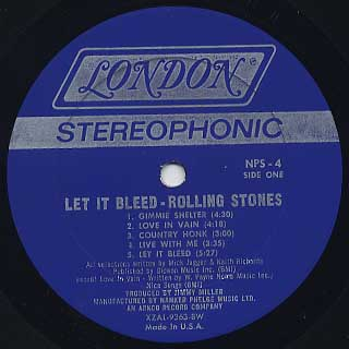 Rolling Stones / Let It Bleed label