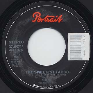 Sade / Sweetest Taboo label