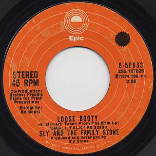 Sly and The Family Stone / Can't Strain My Brain c/w Loose Booty back