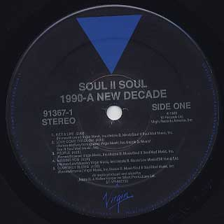 Soul II Soul / 1990 A New Decade label
