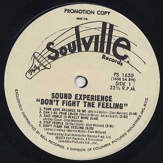 Sound Experience / Don't Fight The Feeling label