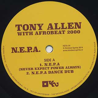 Tony Allen With Afro Beat 2000 / N.E.P.A label
