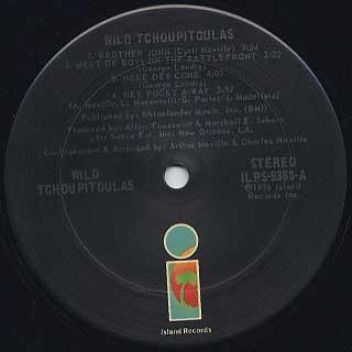 Wild Tchoupitoulas / S.T. label