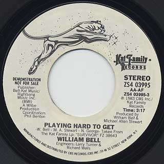 William Bell / Playing Hard To Get(45)