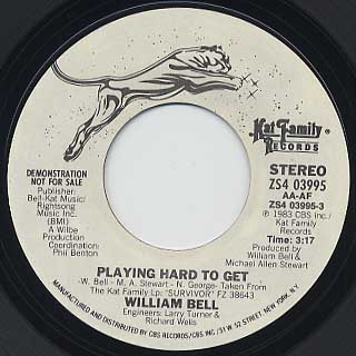 William Bell / Playing Hard To Get(45) back