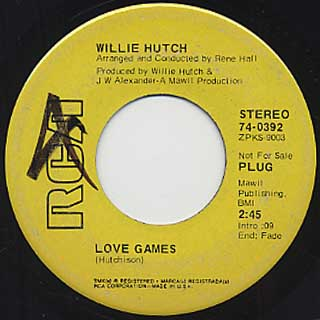 Willie Hutch / Love Games c/w ...