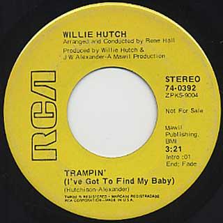 Willie Hutch / Love Games c/w Trampin back