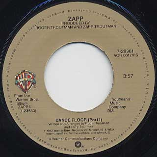 Zapp / Dance Floor(Part I) c/w (Part II)