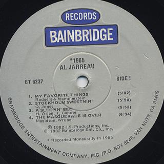 Al Jarreau / 1965 label