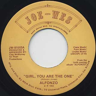 Alfonzo / Girl, You Are The One c/w Lowdown