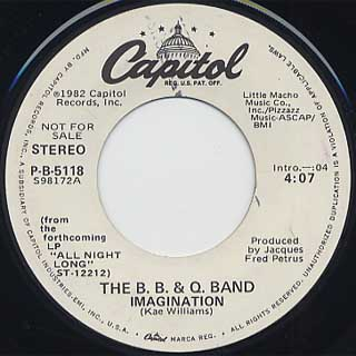 B.B. & Q. Band / Imagination front
