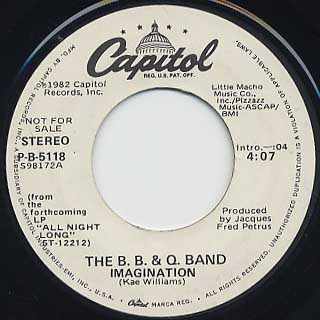 B.B. & Q. Band / Imagination back
