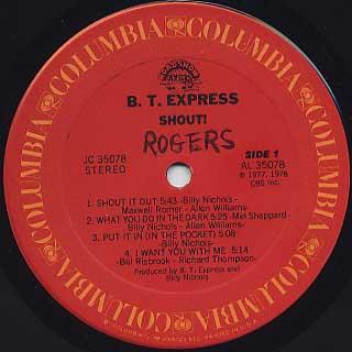 B.T. Express / Shout! label