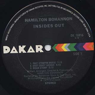 Bohannon / Insides Out label