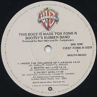 Bootsy S Rubber Band This Boot Is Made For Fonk N Lp